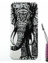 Right Elephant Pattern Hard Case & Touch Pen for iPhone 5/5S