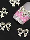 10PCS 명확한 모조 다이아몬드 나비 넥타이 합금 손톱 액세서리 네일 아트 장식