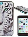 estojo rígido padrão de tigre branco pc real para iphone 5c