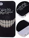 мультфильм сумасшедшие зубы шаблон жесткий футляр для iPhone 4 / 4s