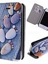 돌 아이폰 4 / 4S를위한 카드 슬롯 패턴 가죽 몸 전체 케이스 발자국
