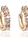 женская новая мода элегантный дизайн 18k позолоченный циркон серьги