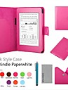 Coco fun® estojo de couro pu colorido com protetor de tela e caneta para todos paperwhite Kindle, da Amazon