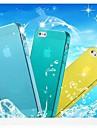 Para Capinha iPhone 5 Transparente Capinha Capa Traseira Capinha Cor Única Macia TPU iPhone SE/5s/5