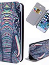 Special Grains Elephant Clear Pattern PU Full Body Case with Card Slot for iPhone 5/5S