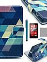 coco Fun® motif de puzzle bleu cuir PU cas complète du corps avec protecteur d'écran, un stylet et d'éligibilité aux Nokia Lumia n520