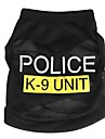 Коты Собаки Футболка Одежда для собак Лето Весна/осень Полиция/армия Милые Мода Черный Синий Розовый
