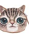 cara linda del gato monedero de la cartera de mini moneda bolso del maquillaje del bolsillo bolsa de dinero con cremallera bolsa