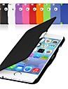 Pour Coque iPhone 6 Coques iPhone 6 Plus Clapet Magnétique Coque Coque Intégrale Coque Couleur Pleine Dur Cuir PU pouriPhone 6s Plus/6