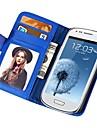 portefeuille de PU doux au toucher étui en cuir pour les mini i8190 samsung galaxy