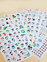 gril scrapbooking decorar transparentes stickers (6pcs)