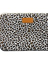 """11.6"""" 12.1"""" 13.3"""" Canvas Leopard Laptop Cover Shakeproof Case for MacBook DELL ThinkPad for SONY HP SAMSUNG"""