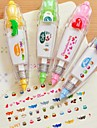 Пресс-типа DIY декоративные ленты (случайный цвет)