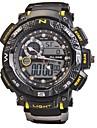 Hommes Montre de Sport Montre Bracelet Montre numérique Quartz NumériqueLED Calendrier Chronographe Etanche Double Fuseaux Horaires