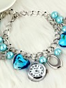 Women's Fashion Watch Bracelet Watch Quartz Alloy Band Heart shape Flower Pearls Elegant Blue