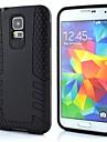 o caso design de conchas duplas foguete forma de silicone para i9600 Samsung Galaxy S5