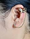 Fashion Women Stone Set Butterfly Ear Cuff