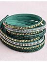 pulseiras de couro duas vezes recém-chegados pedaço de cobre populares diamante verde escuro