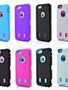 Robots 3in1 couvercle motif de silicone pour iPhone 6s / 6 de plus (couleurs assorties)