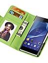 carteira toque macio estojo de couro pu para Sony Xperia z2
