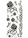водонепроницаемый черная роза Временные татуировки наклейки татуировки образец формы для боди-арта (18.5cm * 8.5cm)