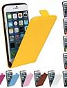Pour Coque iPhone 6 Coques iPhone 6 Plus Clapet Motif Coque Coque Intégrale Coque Couleur Pleine Dur Vrai Cuir pouriPhone 6s Plus/6 Plus