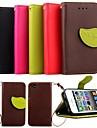 karzea® folha mistura de cores de couro TPU corpo inteiro com suporte e caneta para iPhone 4 / 4S (cores sortidas)