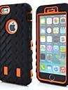 Robots 3in1 grain de pneus patron du couvercle en silicone pour iPhone 6s / 6 de plus (couleurs assorties)