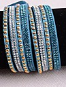 Leather Bracelets Twice New Arrivals Popular Copper Piece Diamond Blue