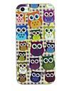 diverses matériau TPU hiboux motif douce cas de retour de couverture pour iphone 5 / 5s