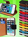 Wallet PU Leather Card Holder Case for iPhone 5/5S (Assored Colors)