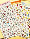 прекрасный дневник скрапбукинга Украсьте наклейки (случайный цвет 1 шт)