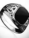 lureme®fashion мужской черный камень кольцо (черный) (1 шт)