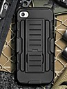Strap Clamp Drop Resistance Armor Protective Jacket with Stand and Clip for iPhone5/5S
