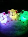 éléphant rotocast couleur lumière changeante de nuit