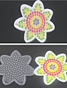 1шт шаблон ясно Pegboard цветок для 5мм Hama бисером предохранителей бисера