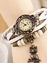 Coway Owl Women's Round Dial  Leather  Band Quartz Analog  Braceiet Watch(Assorted Color) Cool Watches Unique Watches Fashion Watch Strap Watch