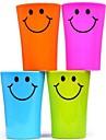 многофункциональный усмешки пластмассовой зубной щетки чашки 360ml (случайный цвет)
