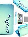 COCO FUN® Etui Presentoire + Protection d'ecran + Stylet tactile - PU cuir - Iphone 4/4S (couleur au choix)