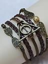 harry potter do vintage asas coruja pérola 18 centímetros pulseira de couro wrap unisex (1 pc)