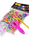 BaoGuang®600PCS Rainbow Color Loom Fashion Loom Rubber Band(1pcs Slingshot,1Package S Clip,Assorted Colors))