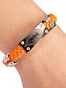 панк-стиль елочка оранжевый кожаный браслет (1 шт) цвет кожи случайным