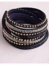 кожаные браслеты дважды новые поступления популярный меди кусок алмаза темно-синий сапоги