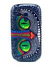 Olhos Azuis Coruja padrão caixa de plástico rígido para Samsung Galaxy S3 mini-I8190