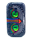 Голубые глаза Сова Pattern жесткого пластика чехол для Galaxy Samsung S3 мини I8190