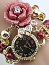 женская кварцевые часы выросла жемчужина Band Аналоговое браслет часы