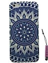 Blue and White Porcelain Pattern Hard Case & Touch Pen for iPhone 5/5S
