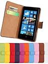 용 노키아 케이스 지갑 / 카드 홀더 / 스탠드 케이스 풀 바디 케이스 단색 하드 인조 가죽 Nokia Nokia Lumia 820