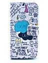 """mots """"okay"""" griffonnent modèle en cuir PU cas complète du corps pour iPhone 5c"""