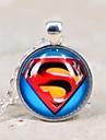 Время галактика супермен драгоценный камень Серебряное ожерелье женщин